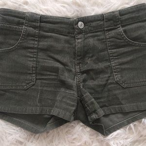 Gap Jeans Army Green Mini Corduroy booty Shorts